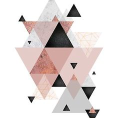 """""""Geometric Compilation in Rose Gold and Blush Pink"""" Art Prints by UrbanEpiphany Iphone Wallpaper Rose Gold, Apple Watch Wallpaper, Geometric Poster, Geometric Art, Rose Gold Painting, Art Rose, Image Deco, Apple Watch Faces, Gold Chevron"""