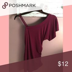 Plum one shoulder blouse//XS//no trades 🚫 Plum one shoulder blouse//xs//no trades//offers welcome💕 Tops Blouses