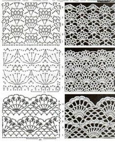 Captivating Crochet a Bodycon Dress Top Ideas. Dazzling Crochet a Bodycon Dress Top Ideas. Crochet Edging Patterns, Crochet Motifs, Crochet Borders, Crochet Diagram, Crochet Chart, Crochet Doilies, Crochet Lace, Knitting Patterns, Irish Crochet