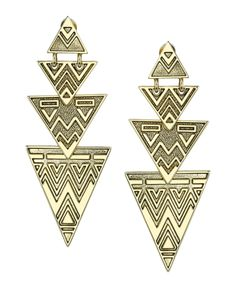 Tribal Drop Earrings | Glamhouse
