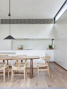 Cozinha e Sala de Jantar Minimalista. Кухня и столовая минималистские.