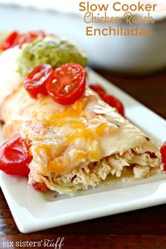 Slow Cooker Chicken Ranch Enchiladas Recipe | Six Sisters' Stuff