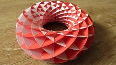 3D Origami - Renkli Halka Tasarımı - Japon kağıt katlama sanatı (3D Origami) - teknikleri, örnekleri ve ipuçlarını videolu anlatımı. Kağıttan renkli halka yapımı