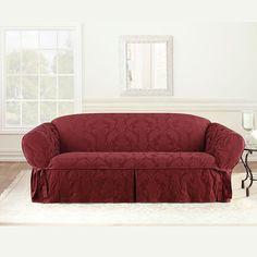 Sure Fit Matelasse Damask Sofa Slipcover,