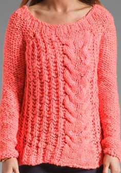 FREE PEOPLE Hot Tottie Pullover in Electric Pink - Free People