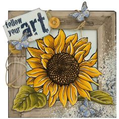 Follow Your Art Jumbo Sunflower by Jennifer Dove