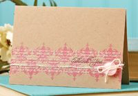Pink Damask Thank You Card by @Jessica Witty - supplies and instructions included