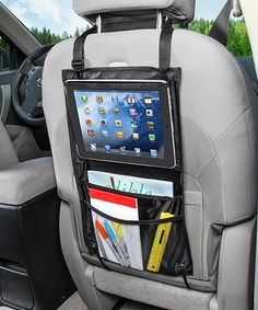 Look what I found on #zulily! Back Seat Tablet Organizer Get the best setup possible for your back-seat passengers with this useful tablet organizer. Designed to hold a tablet in the best viewing position, the useful pocket ensures comfortable use. A convenient pocket stows essentials. 11.5'' W x 19.5'' H Nylon Fits most truck, car and van seats Imported Sale Ends in 2 days 12 hours
