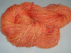 Milk Protein Handspun and hand dyed yarn EU by SussesSpindehjrne, $30.50
