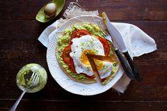 Pita with Avocado, Tomato, and Egg