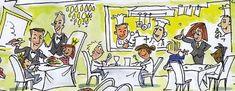 Frankfurt, Restaurant, Courtyard Wedding, Family Day, Eat Lunch, Clock, Kids, Diner Restaurant, Restaurants