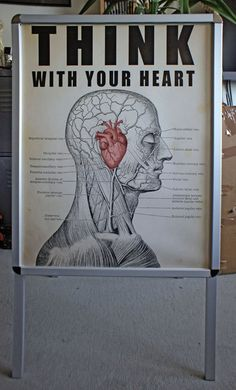 """Think with your Heart"" Collage auf Poster von Henri Banks"