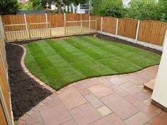 Ideas for changing the oblong shape we are often faced with in new gardens.