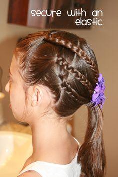 Triple braid ponytail