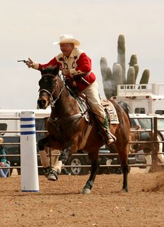 Cowboy Mounted Shooting is a blast to watch.
