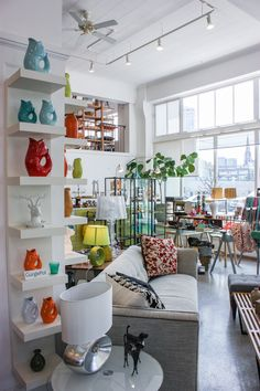 Retrofit Home inSeattle - beautiful light filled space, and they have the best furniture, home goods, art books, and more!