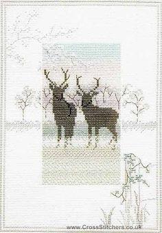 Frosty Deer - Misty Mornings - Cross Stitch Kit by Derwentwater Designs