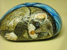 Ooak+Painted+Rock...Baby+Ferret+by+KatsCanvas+on+Etsy,+$25.00