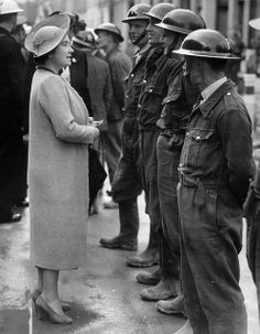 Queen Elizabeth WW2 in London England