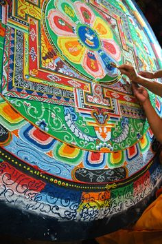 This would be a great way for kids to explore mandalas in Buddhism.