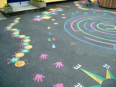 Thermoplastic Playground Markings, could use paint?!