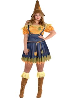 Sultry Scarecrow Plus Size - Adult Costume front