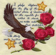 Pledge of Allegiance Eagle Medley design (G4399) from www.Emblibrary.com