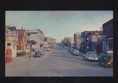 Ely Minnesota Downtown Street Scene Postcard 1950's