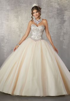 b260e8aaf34 Beaded Strapless Quinceanera Dress by Mori Lee Vizcaya 89171