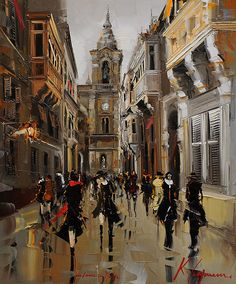 "Kal Gajoum ~ My Love In Malta ~ 36""X30"""
