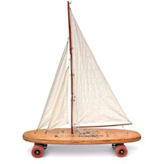 OLD OLD SCHOOL  Objects of Curiosity by Dan Levin . more at www.danlevin.com & click Etsy . #sculpture #assemblage #mixedmedia  #foundobjects #skateboard #longboard #oldschool #oldskool #dogtown #sailing #sailboat #vintage #antique #society6 @society6 @etsy by danlevinart