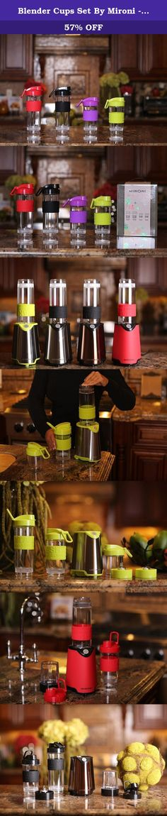 Blender Cups Set By Mironi - 2 600ml & 2 400ml Capacity Bottles - Ideal For Smoothies, Protein Shakes & Drinks - Portable Design-Silicone Slip Resistant Grip- Drinking Lid - Pack Of 4. Adopt A Healthy Lifestyle And Carry Your Smoothies, Sports Shakes Or Meal Replacements Everywhere You Go Thanks To The Ultimate Blender Shaker Cups Set! Have you been looking for an easy, effective way to provide your body with vitamins and nutrients? This blender mixing travel cups pack is exactly what you...