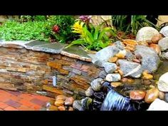 Pondless waterfall by -  http://EnviroscapeLA.com - Native Garden Landscape Design, Ponds and waterfall Installation & Maintenance. Los Angeles, California