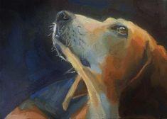 "Daily Paintworks - ""Pet dog"" - Original Fine Art for Sale - © Maria Z."