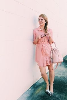 Blush - Stripes - Three Heel Clicks