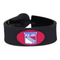 New York Rangers NHL Classic Hockey Bracelet by Gamewear, Inc.. $7.99. Made to offer the feel of an actual hockey puck, this vulcanized rubber Classic Hockey Bracelet from Gamewear is a great way to show your team spirit. The officially licensed bracelet is designed with the imprinted team logo and secured with a hockey puck bed for one-size-fits-all comfort.. Save 38%!
