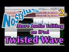 Twisted Wave iPad Audio Editor - Part Two    A good app for iPad podcasters