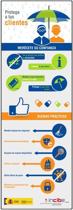 #infografía Protege a tus clientes. Vía Un saludo