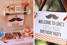 Mustaches & Ties: A Little Man Party