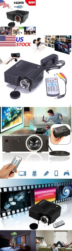 Home Theater Projectors: New! Hd 1080P Home Cinema Theater Multimedia Pc Av Tv Usb Led Projector Vga Hdmi BUY IT NOW ONLY: $34.89 #homecinemaprojector