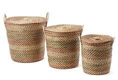 Set of 3 Nesting Hampers, Rust on OneKingsLane.com