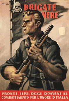 "Italian Fascist propaganda poster from World War II. The caption reads ""Ready yesterday, today, and tomorrow to fight for Italy's honor"" Ww2 Posters, Political Posters, Nazi Propaganda, Italian Posters, Japan, Military History, World War Ii, Vintage Posters, Wwii"