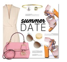 """Date Night"" by jomashop ❤ liked on Polyvore featuring Finders Keepers, Pink, summerdate and rooftopbar"
