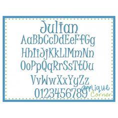 Julian Embroidery Font