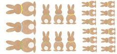 Super schattige konijntjes, print ze eenvoudig zelf! Maak er een leuke slinger, labels, cupcaketoppers, hangers, etc. van!