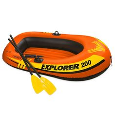 Buy Intex Explorer Inflatable Boat Set with French Oars and Mini Air Pump big discount! Only 10 days. Get your Intex Explorer Inflatable Boat Set with French Oars and Mini Air Pump now! Sea Fishing, Kayak Fishing, Fishing Boats, Kayak Roof Rack, Kayak Storage, Canoe Carrier, Double Kayak, Kayaking Tips, Kayak Accessories