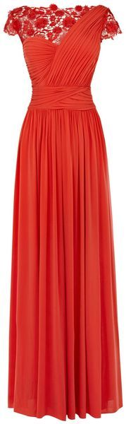 Millie Lace Maxi Dress - Lyst---Suchh a cute idea for a bridesmaid dress..maybe a different color?