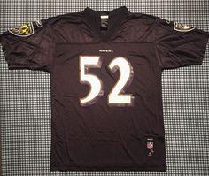 e8895ffba553d Ray Lewis Baltimore Ravens Replica Football Jersey Reebok Youth Large Black  NFL