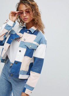DESIGN denim patchwork jacket # 2019 DESIGN denim patchwork jacket # The post.DESIGN denim patchwork jacket # 2019 DESIGN denim patchwork jacket # The post DESIGN denim patchwork jacket # 2019 appeared first on Denim Diy. Jean Outfits, Casual Outfits, Cute Outfits, Shorts Style, Jacket Jeans, Leather Jacket, Denim Fashion, Fashion Outfits, Refashioned Clothes