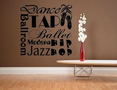 """Dance Is Life. The Rest Is Just Rehearsal Vinyl Wall Decal 12/"""" x 25/"""""""